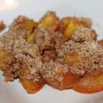 No Peel Peach Crisp