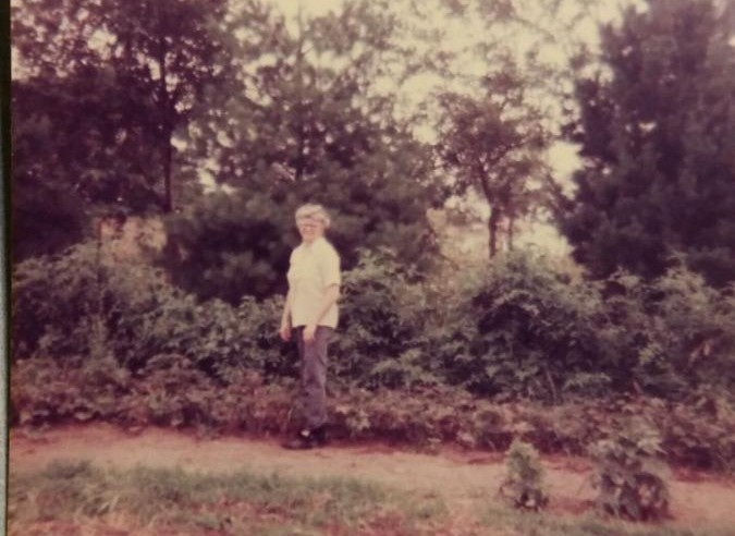 Our parents planted the seeds of gardening in us as kids - my mom in her garden in the mid-70's.