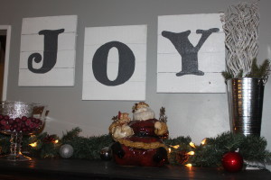 Our new pallet signs are now a part of our Christmas decorations for years to come.