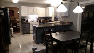 The kitchen on Sunday evening - almost done!