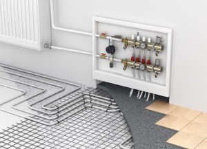 We will use radiant heat installed in the foundation to heat the entire house