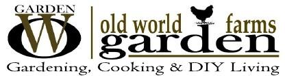 old world garden farms logo and tagline