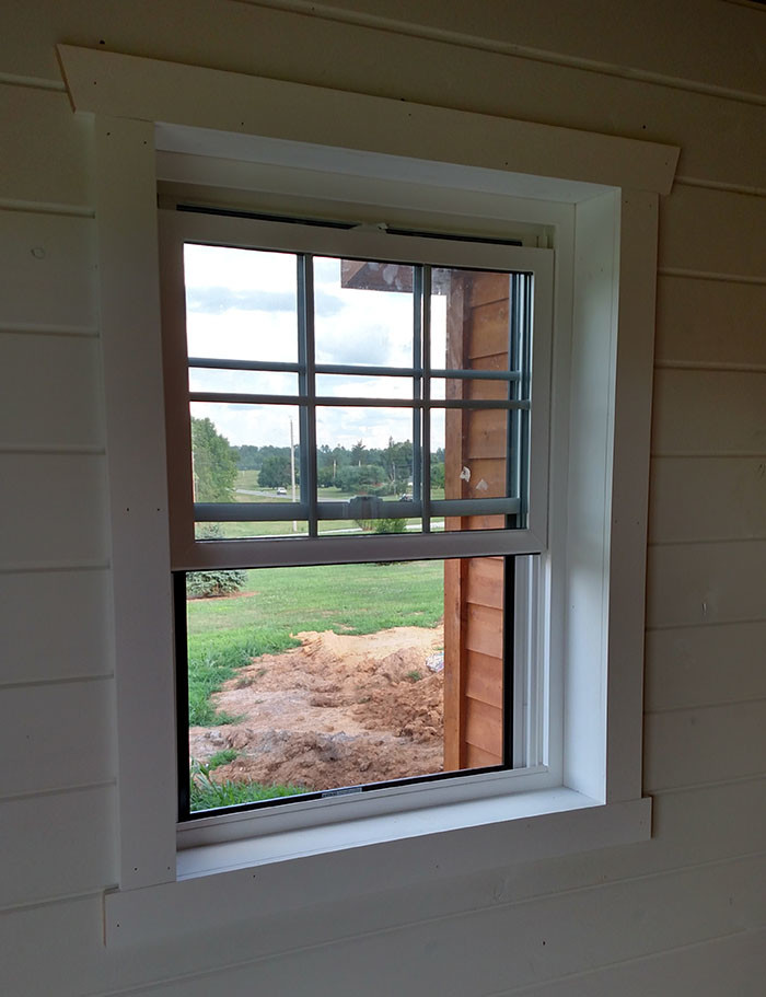 The beauty simplicity and ease of using shiplap walls for Drywall around windows