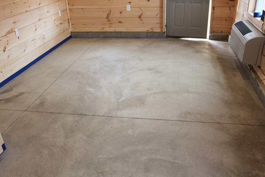Acid Staining Our Concrete Floors An