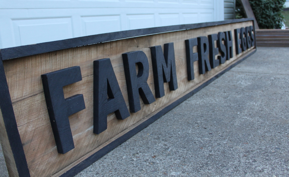 Making Vintage Signs From Pallets Or Barn Wood On The Cheap