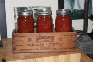 homemade picante salsa