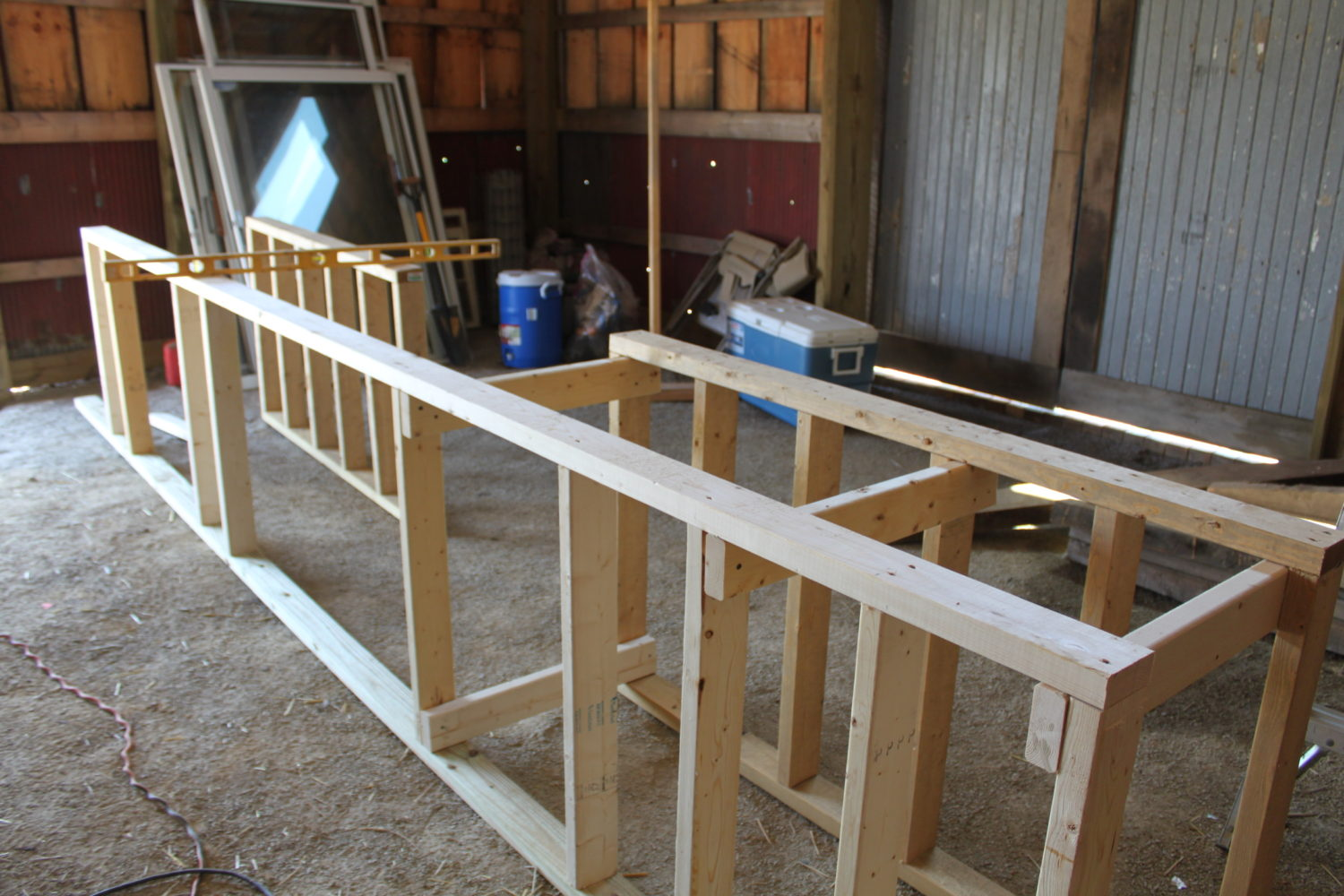 how to build a counter frame