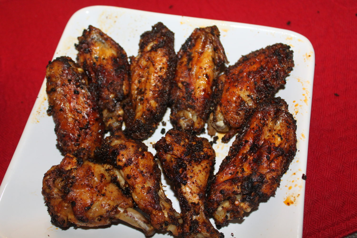 BAKED Chicken Wings' Recipe, With Chipotle Dry Rub