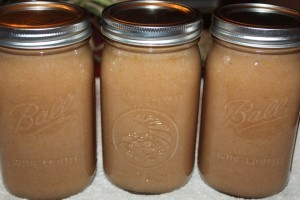 canning apple sauce