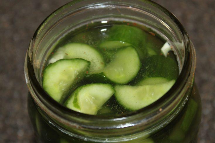Overnight Garlic Pickles