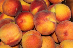 After boiling, immediately stop the cooking process by placing the peaches in an ice water bath