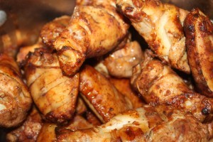 Basket of wings right off the smoker - they won't last long in our house!