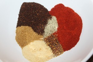 Easy to make dry rub - adjust the seasonings to your own taste