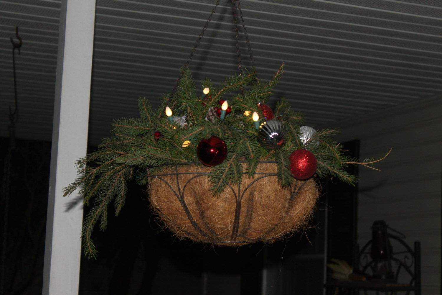 How To Turn Summer Hanging Baskets Into Great Christmas Decorations!