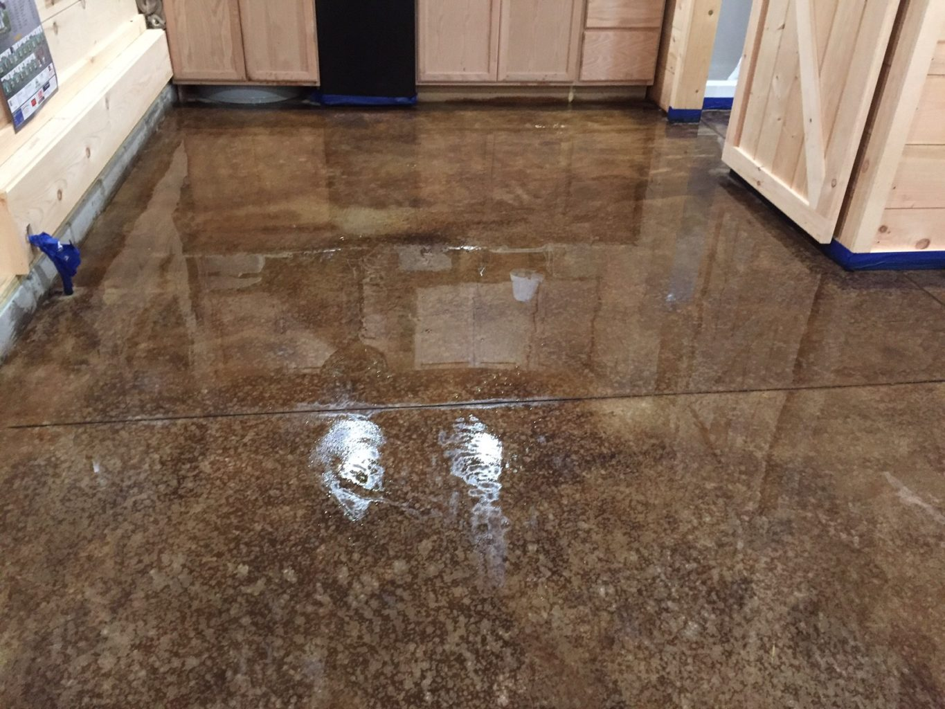 Stained Concrete Floors In Homes : Acid staining our concrete floors an expensive look at