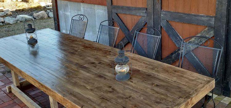 2 x 4 farm table