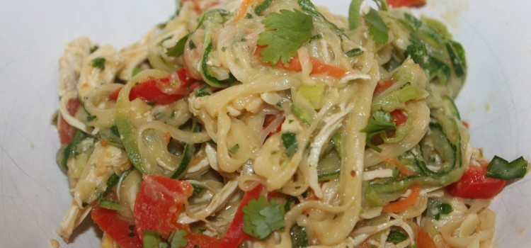 chicken and zucchini noodles