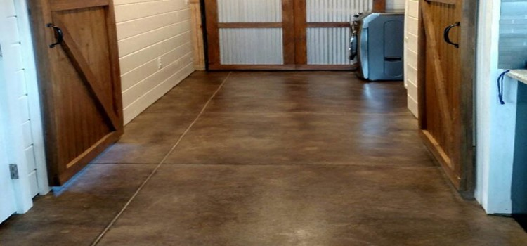 How to acid stain old concrete floors