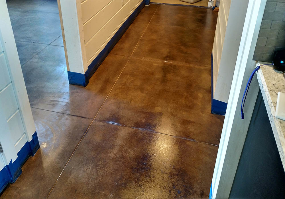 How To Acid Stain Concrete Floors, Patios or Basements In 4