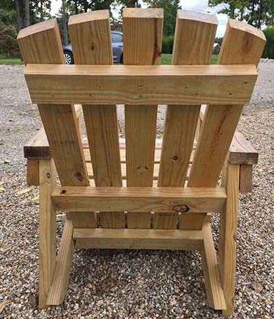 DIY outdoor chair
