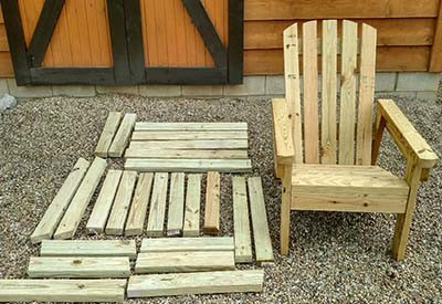 2x4 diy adirondack chair