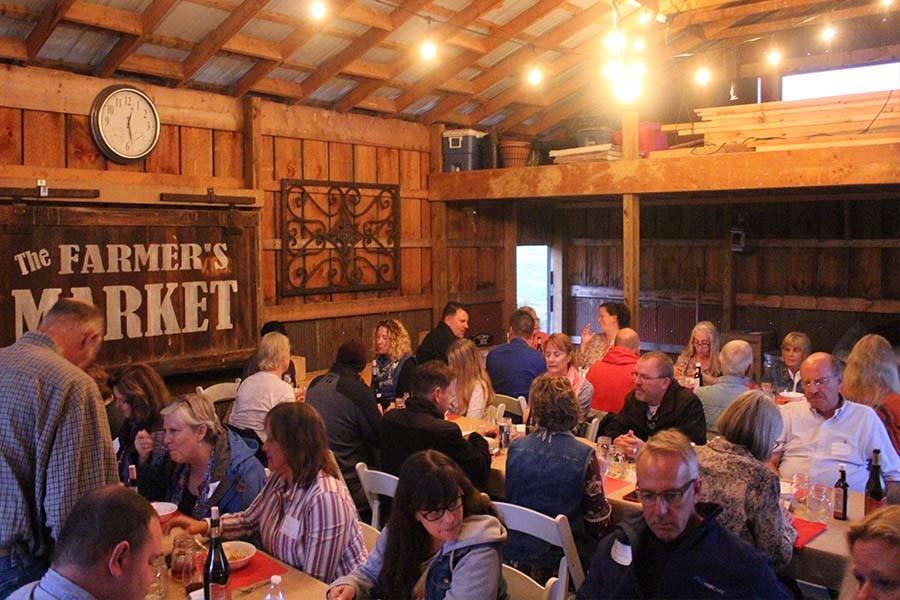 farm to table dinner photos