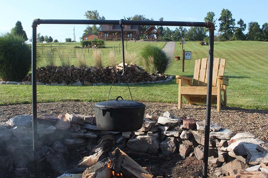 open fire cooking bar
