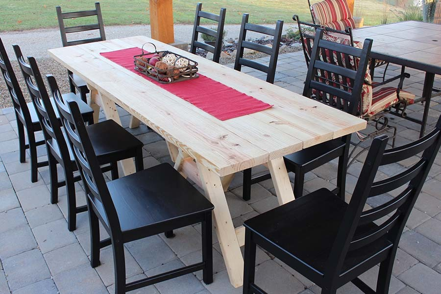 Diy Sawhorse Farm Table One