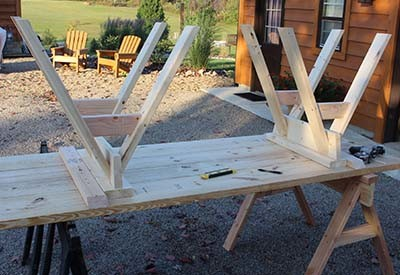 siy sawhorse farm table