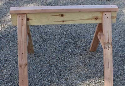 homemade sawhorse plans