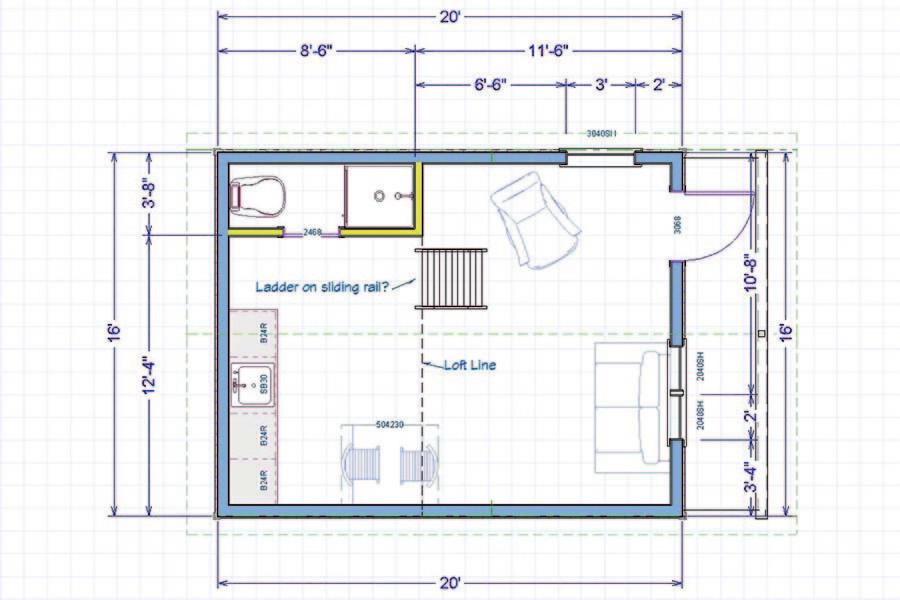 The off grid cabin floor plan small living in style for Living off the grid house plans