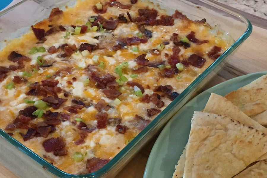 three cheese bacon dip