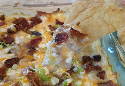 three cheese bacon dip