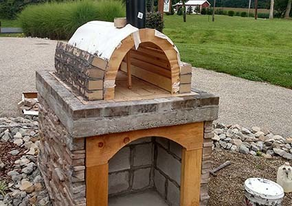 diy wood fired pizza oven