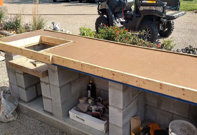 homemade concrete countertops