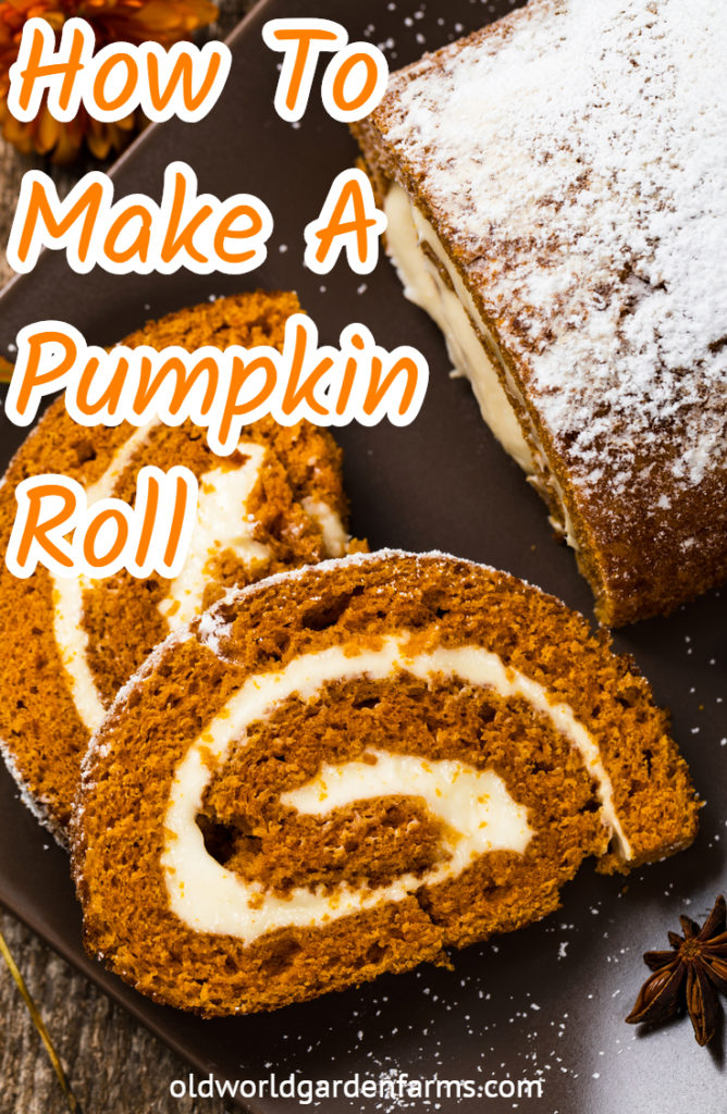 homemade pumpkin roll