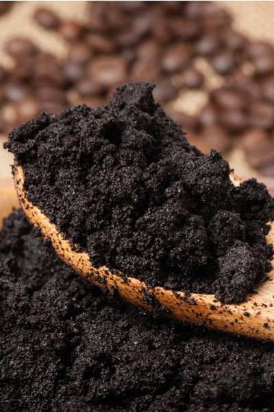 using coffee grounds