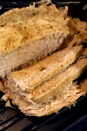 slow cooker pork roast, sauerkraut