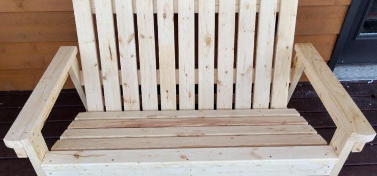 DIY Adirondack Bench