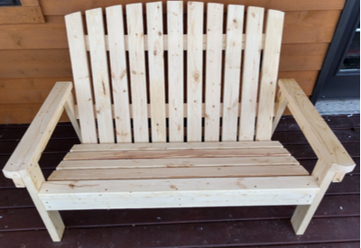 2 x 4 DIY Adirondack Bench