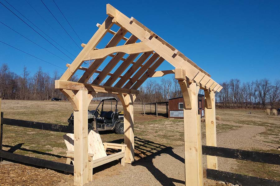 spring arrives with a new garden structure