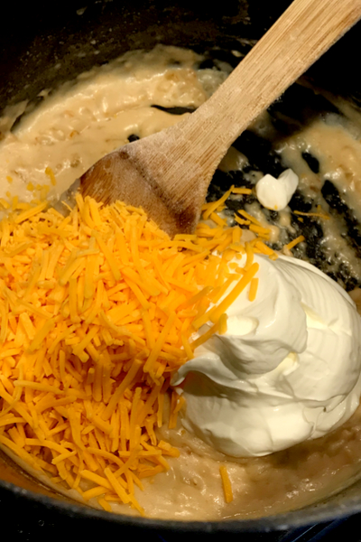 cheese and sour cream