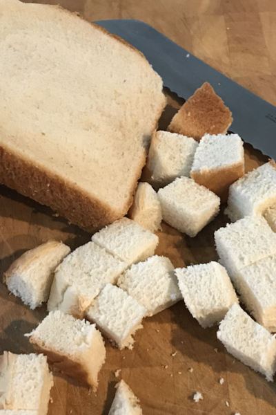 cubed bread