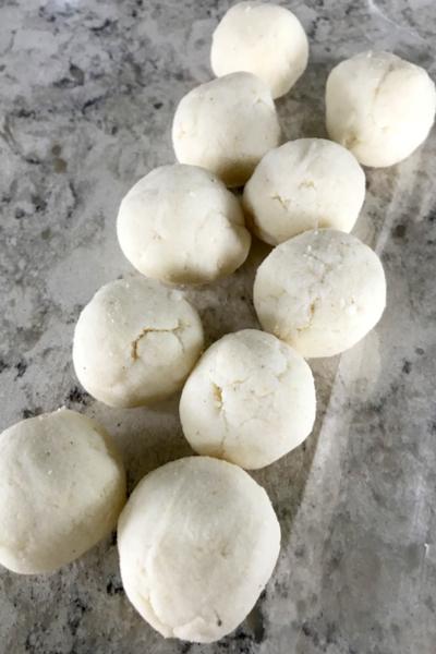 tortilla dough balls