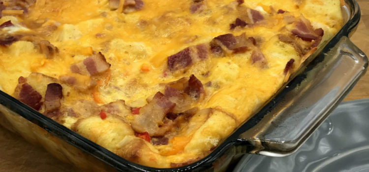 Overnight Bacon Breakfast Casserole
