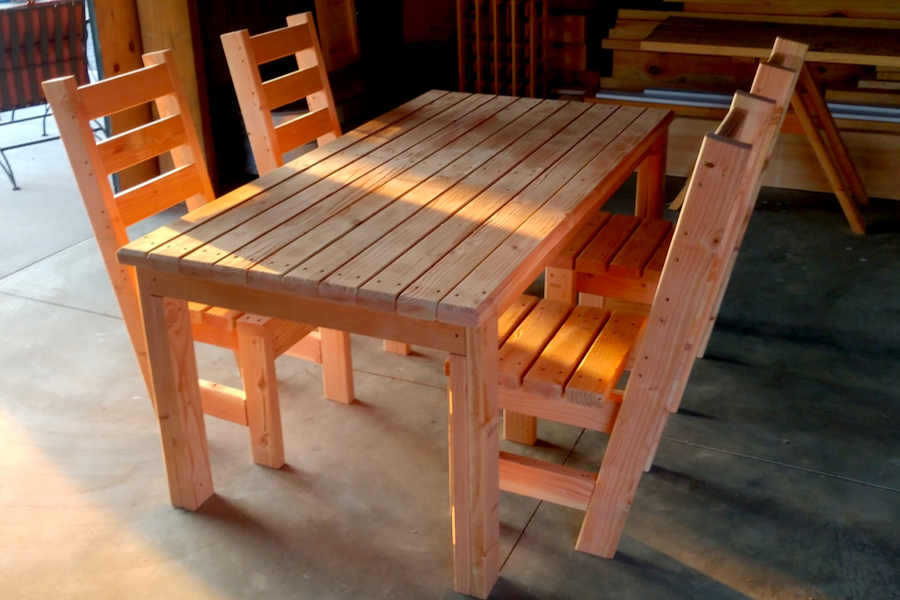 diy patio table and chair set