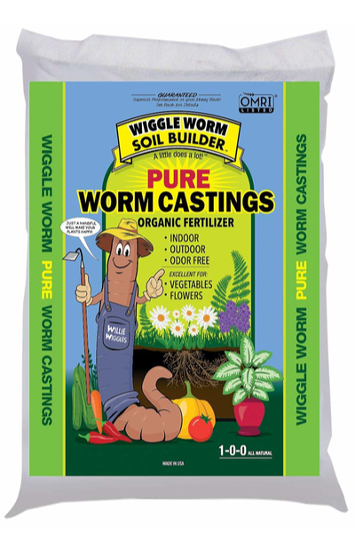 planting garlic with worm castings
