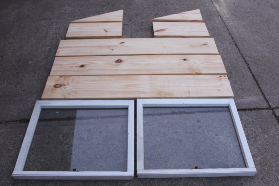 recycled windows for diy cold frame