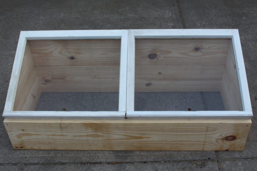 diy recycled window cold frame