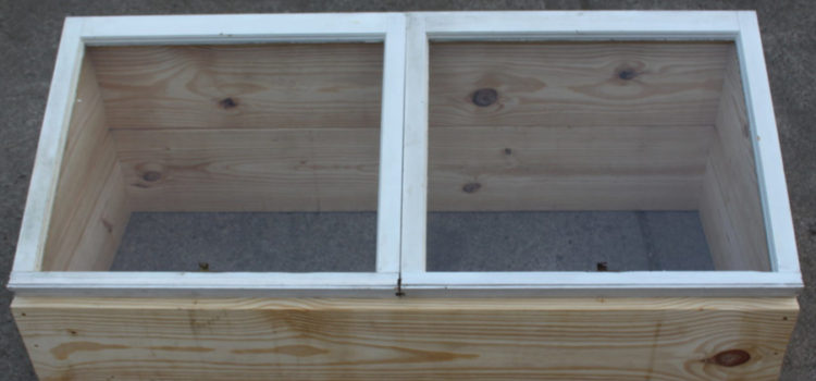 How To Build An Inexpensive DIY Cold Frame From Recycled Windows
